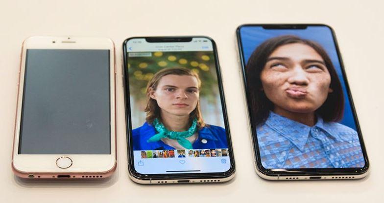 Từ trái qua: iPhone 6s, iPhone Xs, iPhone Xs Max
