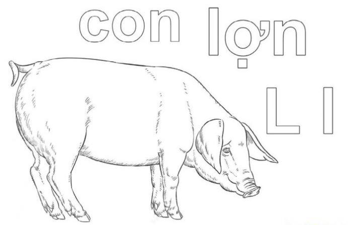 Mẫu tranh tô màu cho bé hình chữ L