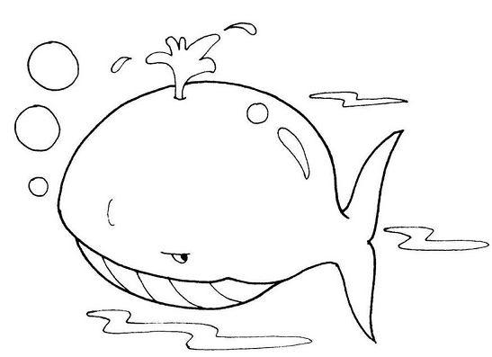 Mẫu tranh tô màu cho bé từ 2 đến 5 tuổi hình con cá voi