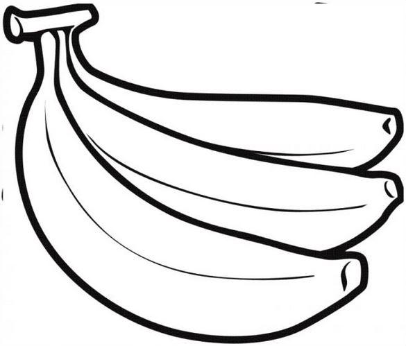 Mẫu tranh tô màu hình quả chuối