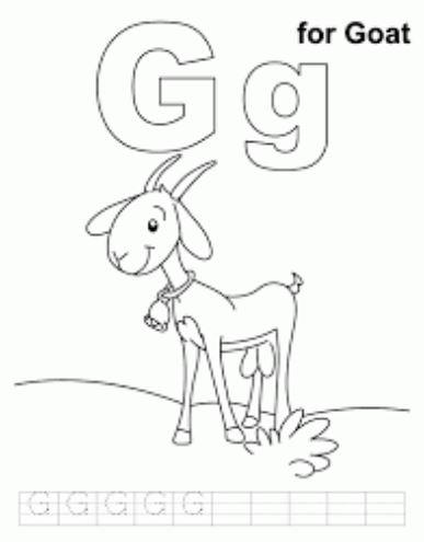 Mẫu tranh tô màu cho bé hình chữ G
