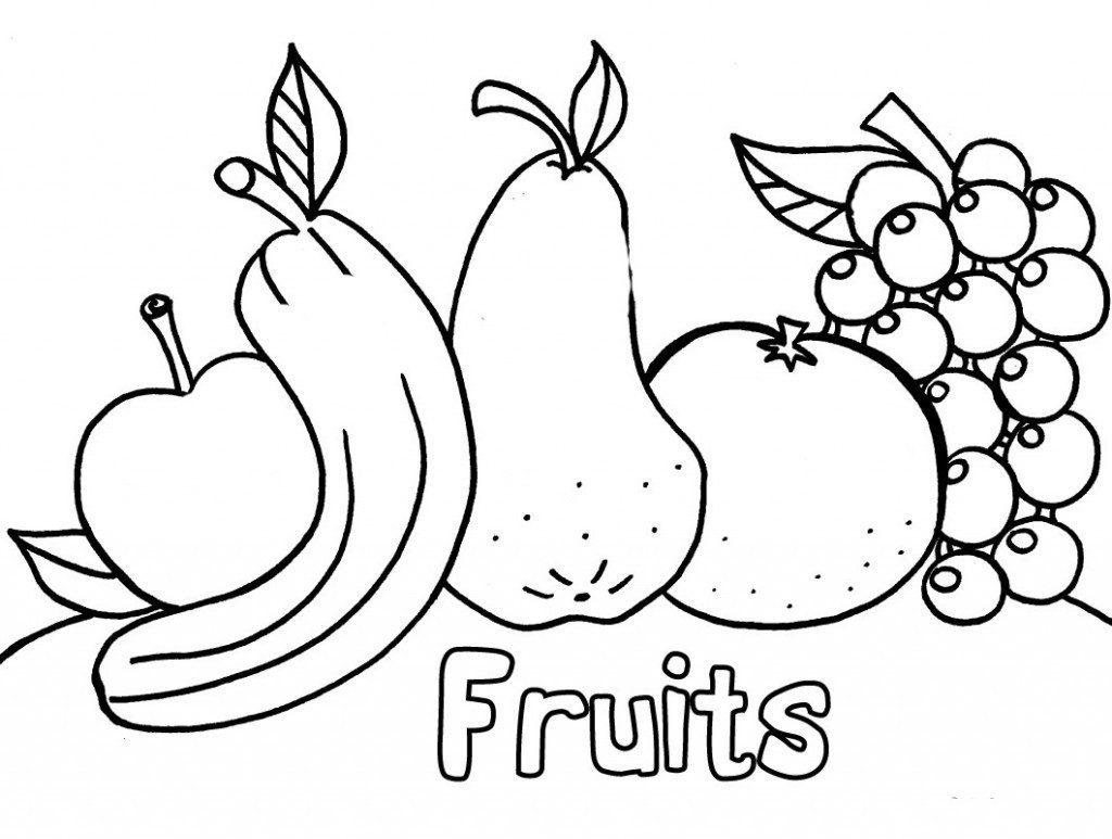 hình ảnh tranh tô màu hoa quả cho bé