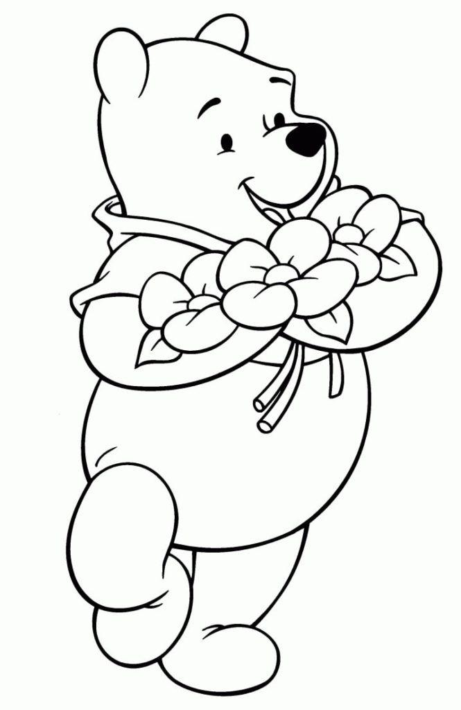 Tranh tô màu động vật – hình chú gấu