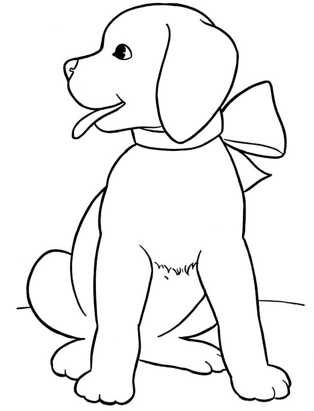 Tranh tô màu động vật – hình con chó: