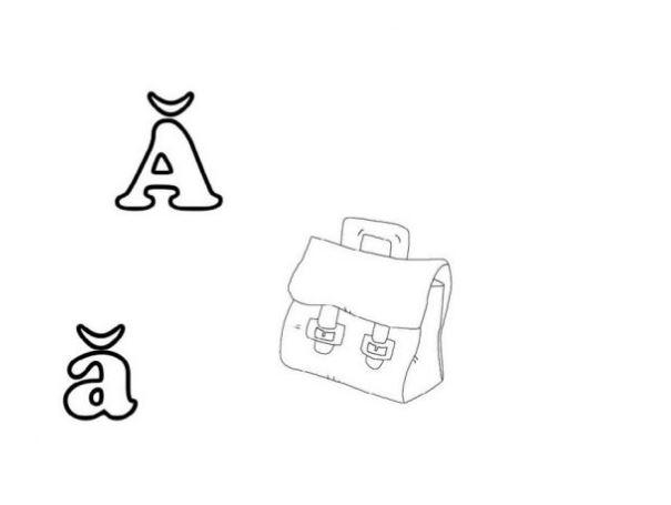 Mẫu tranh tô màu hình chữ Ă dành cho bé tập tô