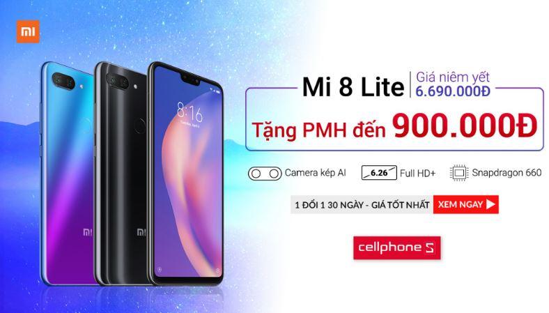 Mua ngay Xiaomi Mi 8 Lite chỉ từ 5.79 triệu đồng