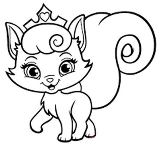 Mẫu tranh tô màu cho bé hình con mèo đáng yêu