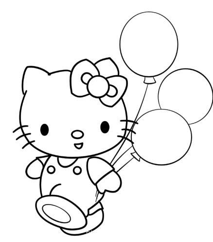 Mẫu tranh tô màu hình con mèo dễ thương dành cho bé