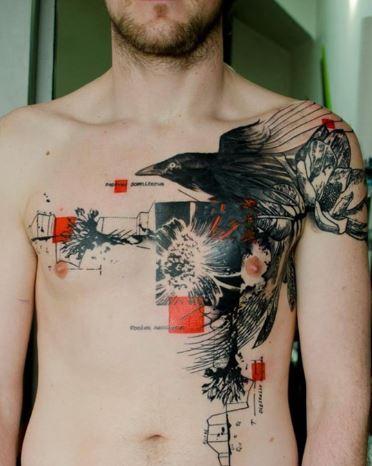 Mẫu hình xăm ngực Nam đẹp
