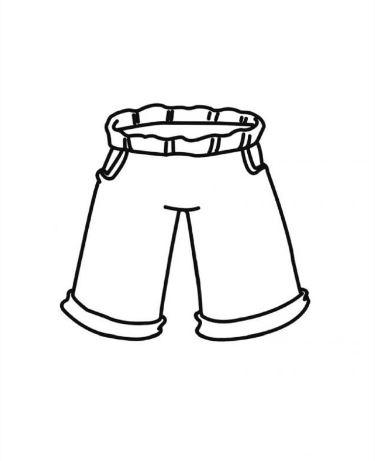 Mẫu tranh tô màu cho bé hình cái quần