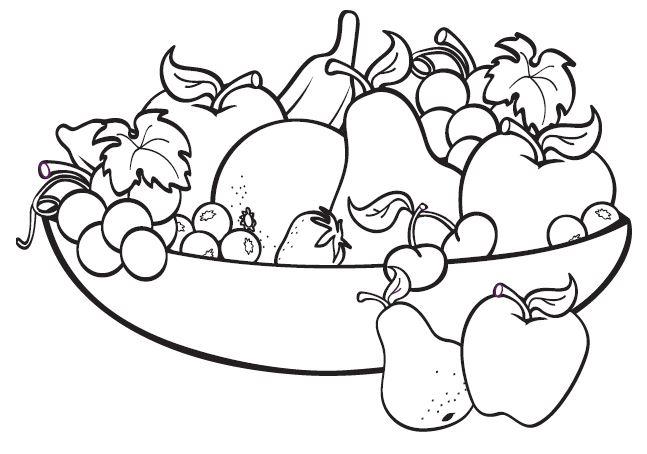 Mẫu tranh tô màu màu mâm quả ngày tết dành cho bé tập tô