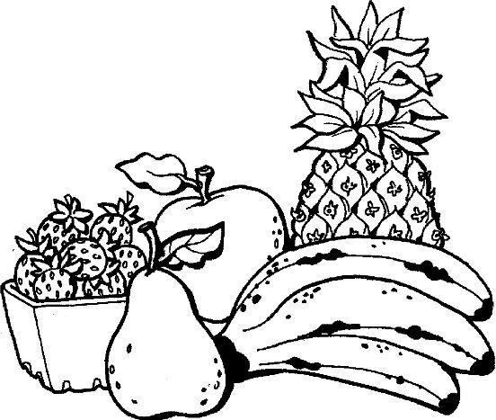 Mẫu tranh tô màu cho bé hình trái cây đơn giản