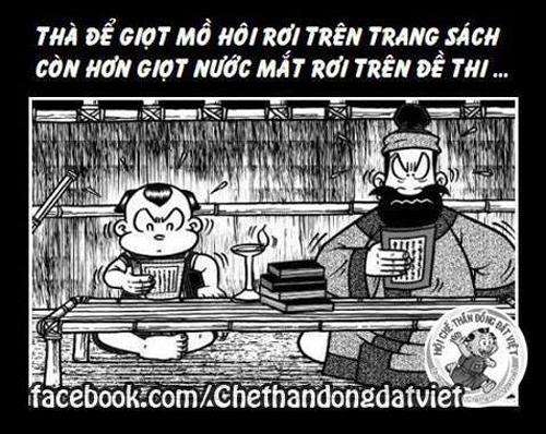 Ảnh chế trong bộ truyện tranh thần đồng đấi Việt